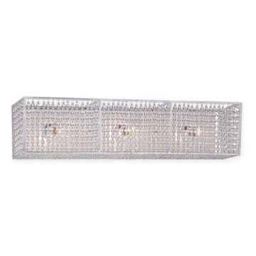 Metropolitan Lighting Saybrook 3-Light Vanity in Catalina Silver with Glass Beads