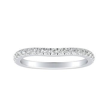 Auriya 1/4ctw Contoured Diamond Wedding Band Platinum