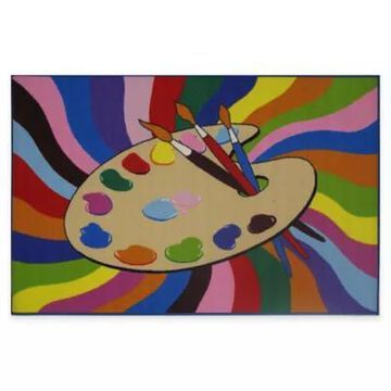 Fun Rugs Painting Time 3-Foot 3-Inch X 4-Foot 10-Inch Rug