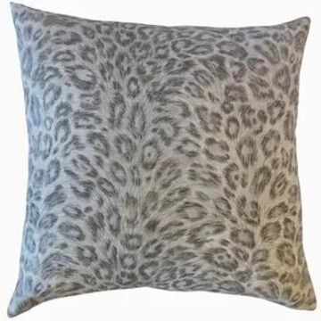 The Pillow Collection Dembe Animal Print Decorative Throw Pillow (Khaki - Euro Square - Square)
