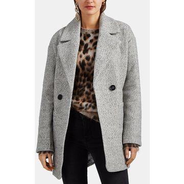 AVEC LES FILLES Herringbone-Weave Cocoon Coat