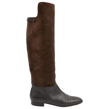 Loro Piana Brown Suede Boots