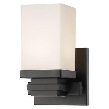 Avige Single Light 5 Wide 8 Watt LED Wall Sconce with Matte Opal Glass