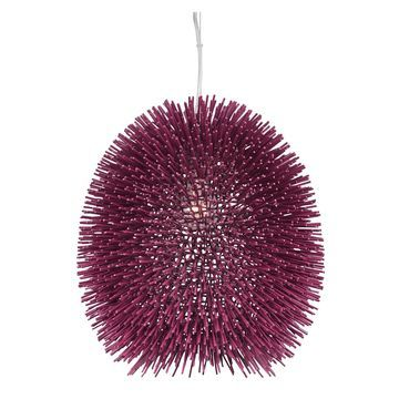 Varaluz Urchin 1-light Plum Pendant