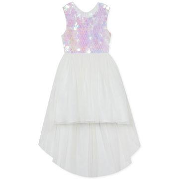 Toddler Girls Sequin High-Low Hem Dress