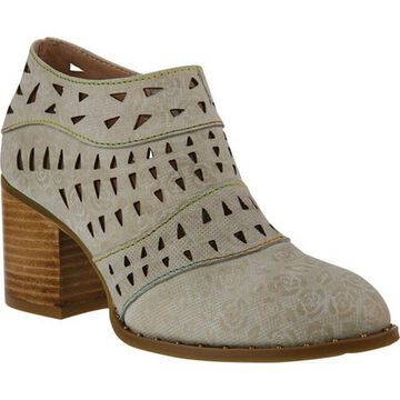 L'Artiste by Spring Step Women's Evetta Ankle Bootie Bone Leather