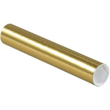 2 x 12 Mailing Tubes - Gold Metallic (500 Qty.)