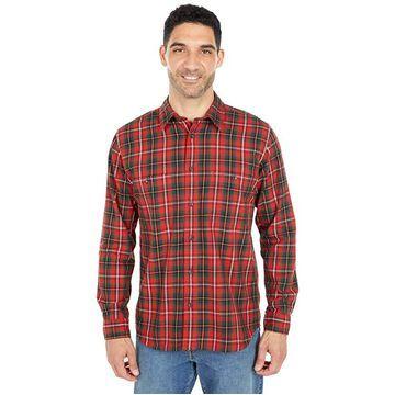 Filson Wildwood Shirt (Red/Black/Flame Plaid) Men's Clothing