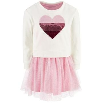 Epic Threads Toddler Girls 2-Pc. Sequin Heart Sweatshirt & Tutu Dress, Created For Macy's
