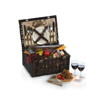 Copley 2 Person Picnic Basket, Brown Willow