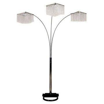 Ore International Inc. 3-Crystal Inspirational Floor Lamp
