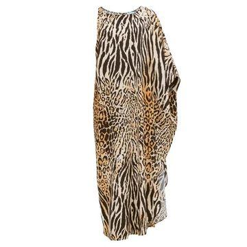 Melissa Odabash - Pamela Asymmetric Leopard-print Maxi Dress - Womens - Animal