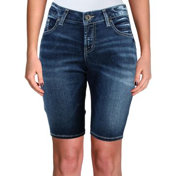 Silver Jeans Co. Womens Suki Casual Five-Pocket Denim Shorts