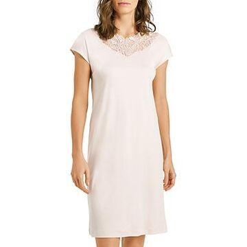 Hanro Madlen Lace-Trim Cotton Nightgown