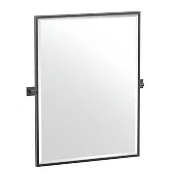 Gatco Elevate Framed Rectangular Mirror in Matte Black