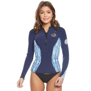 Rip Curl Women's 1mm G-Bomb Sublimated Long Sleeve Front Zip Wetsuit Jacket