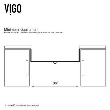 VIGO 36  Matte Stone Farmhouse Kitchen Sink