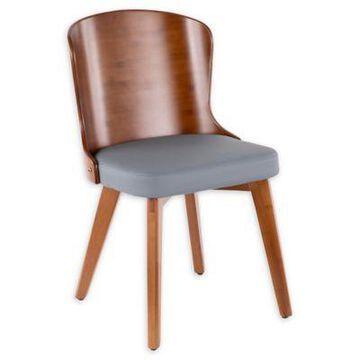 LumiSource Bocello Chair in Walnut/Grey