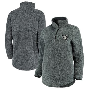 Oakland Raiders Concepts Sport Women's Trifecta Snap-Up Jacket - Charcoal