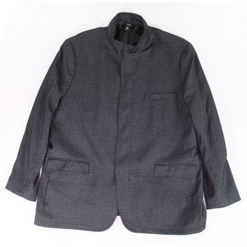 Alfani Deep Mens Four Button Brick Texture Sportcoat