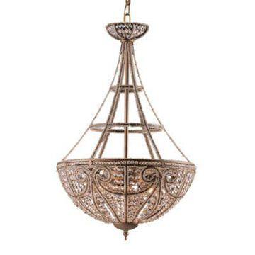 ELK Lighting 4-Light Pendant in Dark Bronze