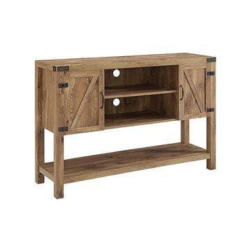 Walker Edison Console and Sofa Tables Barnwood - Barn Door Console Table