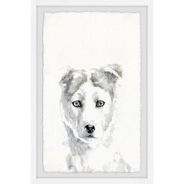 Parvez Taj White as Snow Framed Wall Art