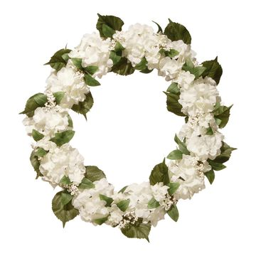 National Tree Company Artificial Cream Hydrangea Wreath