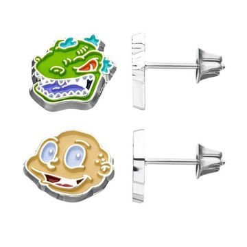 Nickelodeon Tommy and Reptar Stud Earrings