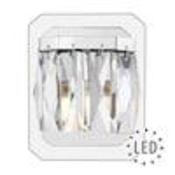 Golden Lighting Krysta 1-Light Chrome Glam Vanity Light