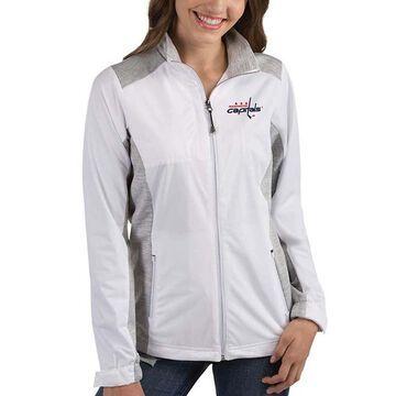 Women's Antigua White Washington Capitals Revolve Full-Zip Jacket