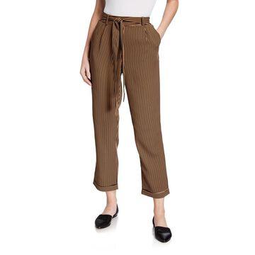High-Waist Tie Front Pants