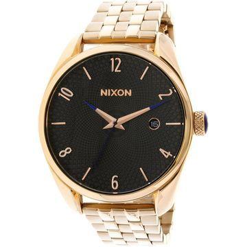Nixon Women's Bullet A4182046 Rose-Gold Stainless-Steel Japanese Quartz Fashion Watch