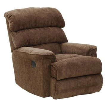 Chaise Rocker Recliner in Coffee