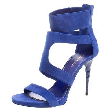 Le Silla Blue Suede Sandals