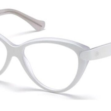 Balenciaga BA5026 022 Womens Glasses White Size 54 - Free Lenses - HSA/FSA Insurance - Blue Light Block Available
