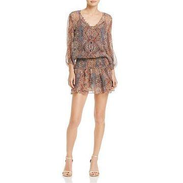 Ella Moss Womens Silk Tapestry Casual Dress