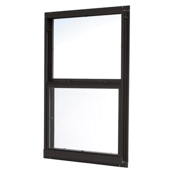 ReliaBilt 46000 Series 35.5-in x 51.5-in x 2.6-in Jamb Aluminum New Construction Black Single Hung Window | ASHB3652RB