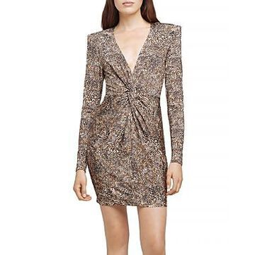 L'Agence Mariah Twist Front Mini Dress