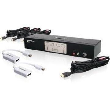4PORT HDMI KVMP SWITCH WITH MINI DISPLAYPORT ADAPTERS