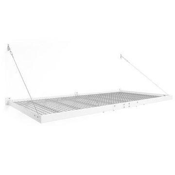 NewAge Products Pro Series 4 ft. x 8 ft. Wall Mounted Steel Shelf in White