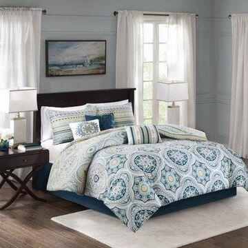 Home Essence Corynn 7 Piece Reversible Cotton Sateen Comforter Set