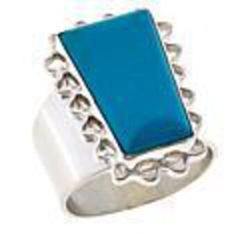 Mine Finds by Jay King Sterling Silver Azure Peaks Turquoise Ring - Silver