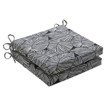 2pk Outdoor/Indoor Squared Corners Seat Cushion Set Talia - Pillow Perfect