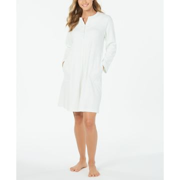 Waffle Knit Embroidered Robe