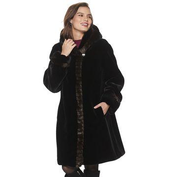 Women's Gallery Shawl Collar Faux-Fur Coat