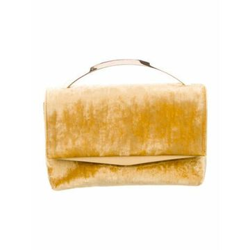 Velvet Clutch Bag w/ Tags Yellow