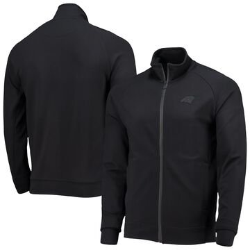 Men's 5th & Ocean by New Era Black Carolina Panthers 5th Raglan Tri-Blend Full-Zip Jacket