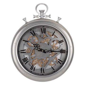 42156 Frosted Pocketed Wall Clock