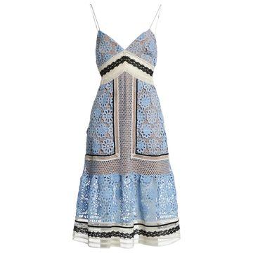 Self Portrait Blue Polyester Dresses
